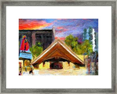 Remembering Kuhio Beach 1972 Framed Print by Patrick J Gallagher