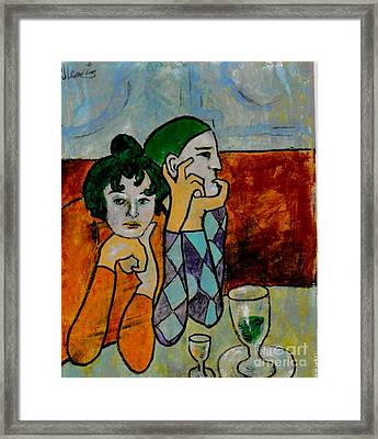 Remembering Picasso Framed Print by P J Lewis