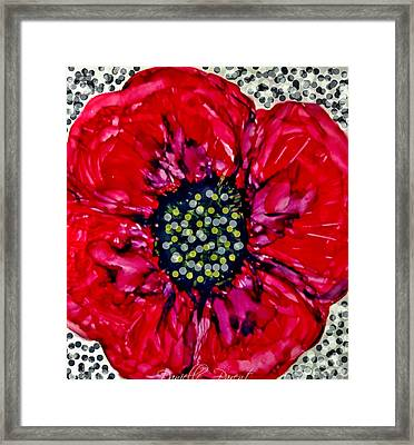 Remembering The Fallen Alcohol Inks Framed Print by Danielle  Parent