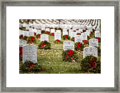 Remembering The Fallen Ones Framed Print