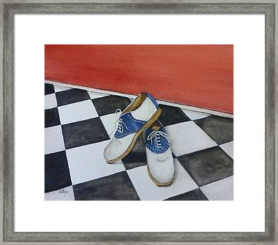 Remembering The Saddle Shoes Framed Print