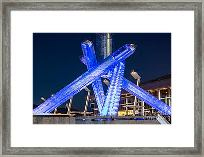 Remembering Vancouver Olympics - By Sabine Edrissi Framed Print by Sabine Edrissi