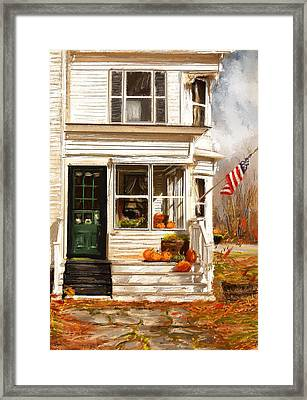 Remembering When- Porches Art Framed Print