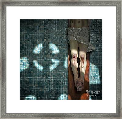 Remembrance Inri Framed Print by Michel Verhoef