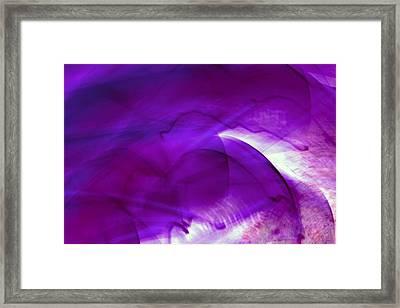 Remembrance - Purple Framed Print