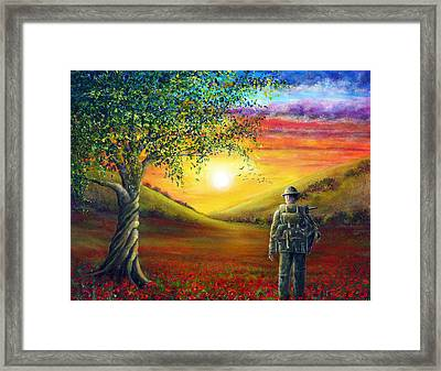 Remembrance Sunset Glow Framed Print