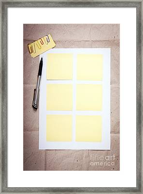 Reminder Notes Framed Print by Tim Hester