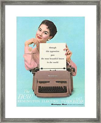 Remington 1950s Uk Typewriters Framed Print