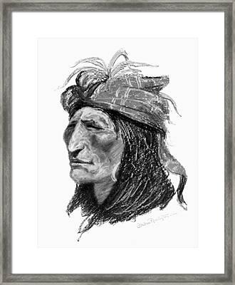 Remington Creek Man, C1906 Framed Print