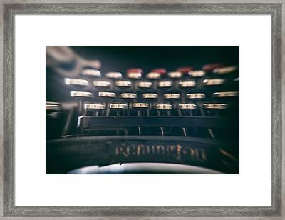 Remington Keys Framed Print by Georgia Fowler
