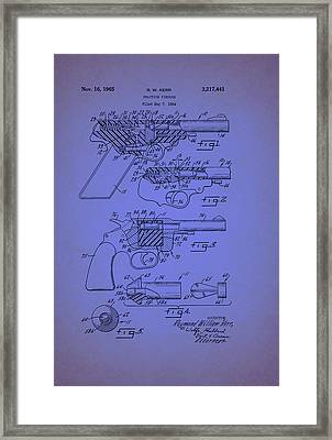 Remington Practice Pistol Patent 1965 Framed Print by Mountain Dreams