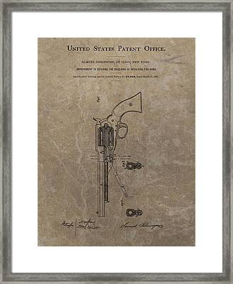 Remington Revolver Patent Framed Print by Dan Sproul