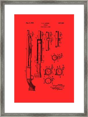 Remington Rifle Patent 1929 Framed Print by Mountain Dreams