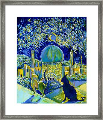 Reminiscences Of Asia. Bed Time Story Framed Print