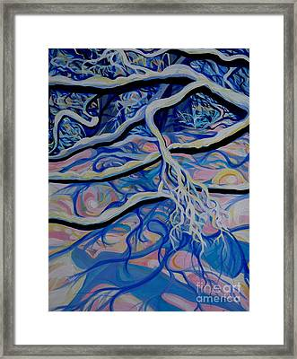 Reminiscences Of Asia.the Theatre Of Winter Shadows Framed Print