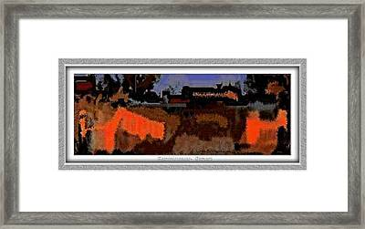 Framed Print featuring the painting Reminiscences by Pemaro