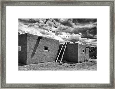 Reminiscent - Taos Pueblo New Mexico Framed Print by Silvio Ligutti