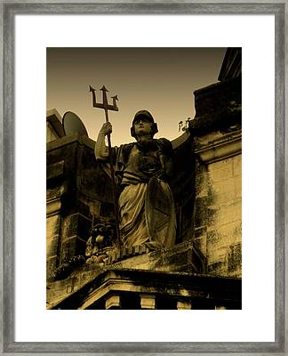 Framed Print featuring the photograph Trident To The Sky by Salman Ravish