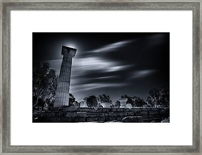 Framed Print featuring the photograph Remnants  by Micah Goff
