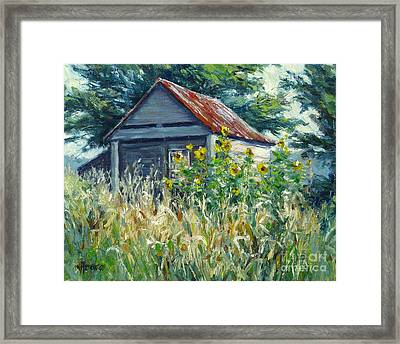 Remnants Of My Garden Framed Print by Vickie Fears