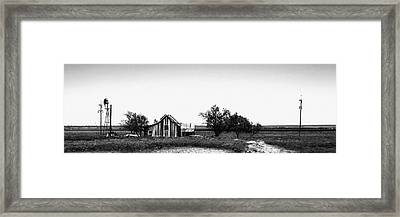 Remnants Of The Dust Bowl Framed Print by Lon Casler Bixby