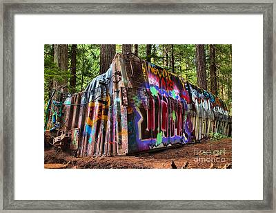 Remnants Of The Whister Train Wreck Framed Print