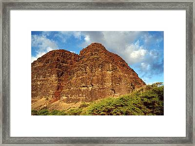 Framed Print featuring the photograph Remote Beach Hawaii by Mary Bedy