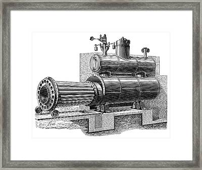 Removable-furnace Boiler Framed Print by Science Photo Library