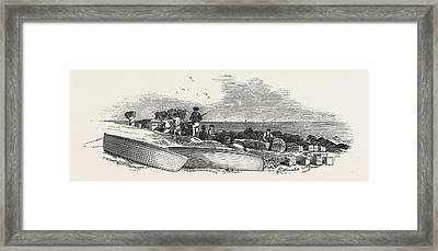 Removal Of The Ships Stores From The Landing Place Framed Print