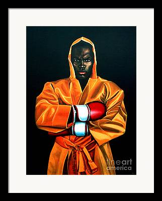 Black Men Paintings Framed Prints