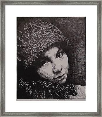 Rena Framed Print by Denis Gloudeman