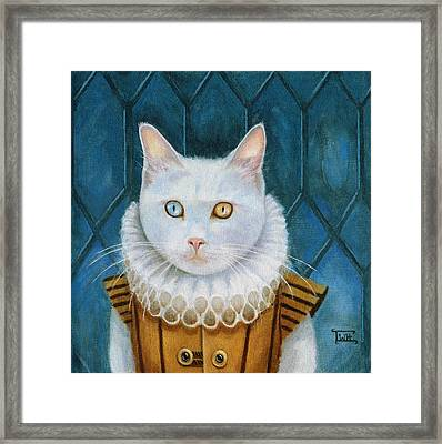 Renaissance Cat Framed Print