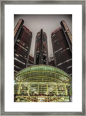 Renaissance Center Detroit Michigan Framed Print