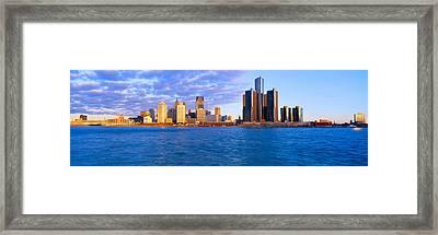 Renaissance Center, Detroit, Sunrise Framed Print
