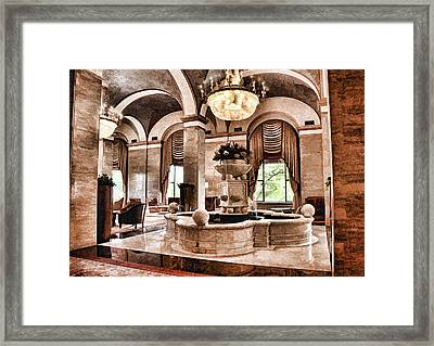 Framed Print featuring the photograph Renaissance Cleveland Hotel - 1 by Mark Madere