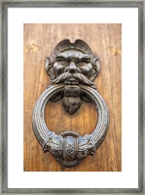 Renaissance Door Knocker Framed Print