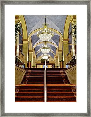 Renaissance Hotel Corridor Framed Print by Frozen in Time Fine Art Photography