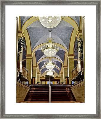 Renaissance Hotel Staircase Framed Print