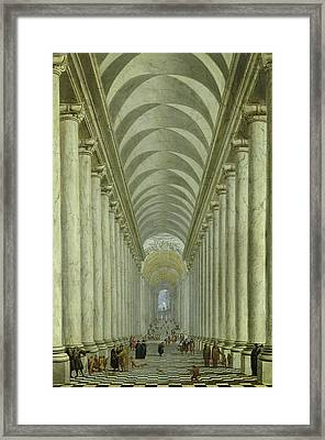 Renaissance Indoor Staircase Framed Print