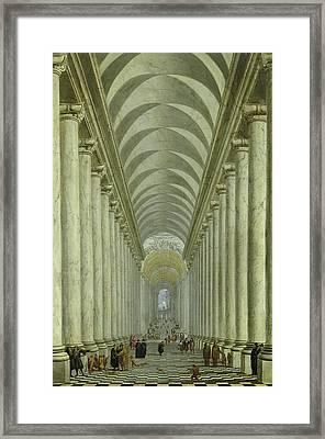Renaissance Indoor Staircase Framed Print by Wilhelm Ehrenberg