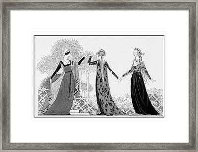 Renaissance Italy Style Models Framed Print