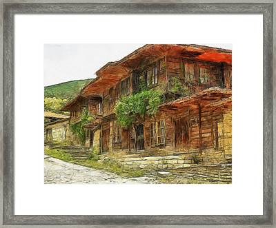 Renaissance Old House - Art Framed Print by Georgi Dimitrov