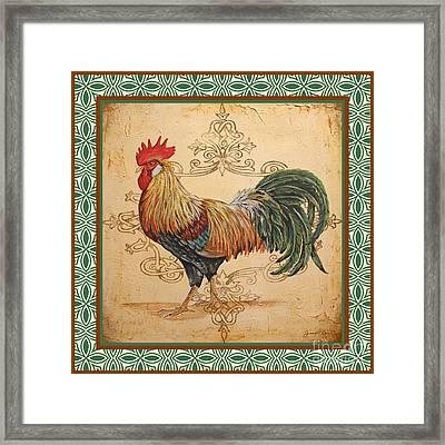 Renaissance Rooster-a-green Framed Print