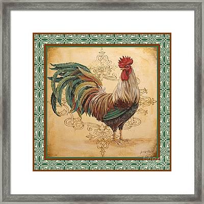 Renaissance Rooster-d-green Framed Print