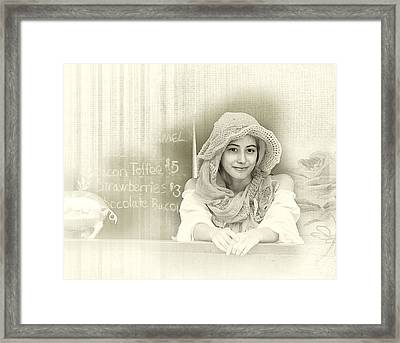 Renaissance Woman Framed Print by Camille Lopez