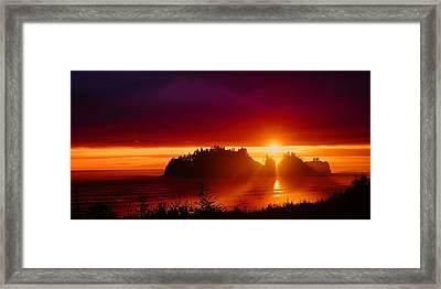 Renaldo Beach Sunset Framed Print