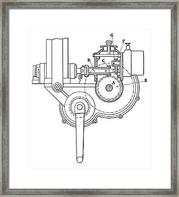 Renault Car Ignition Framed Print by Science Photo Library