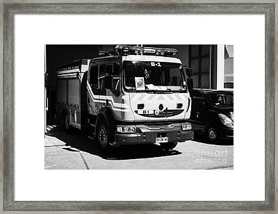 Renault Fire Trucks Tenders Constitucion Fire Station Chi Framed Print by Joe Fox