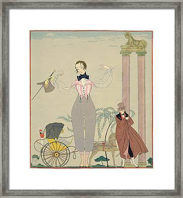 Rendez-vous  Framed Print by Georges Barbier