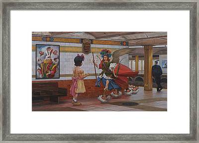 Rendezvous Framed Print by Alfredo Arcia